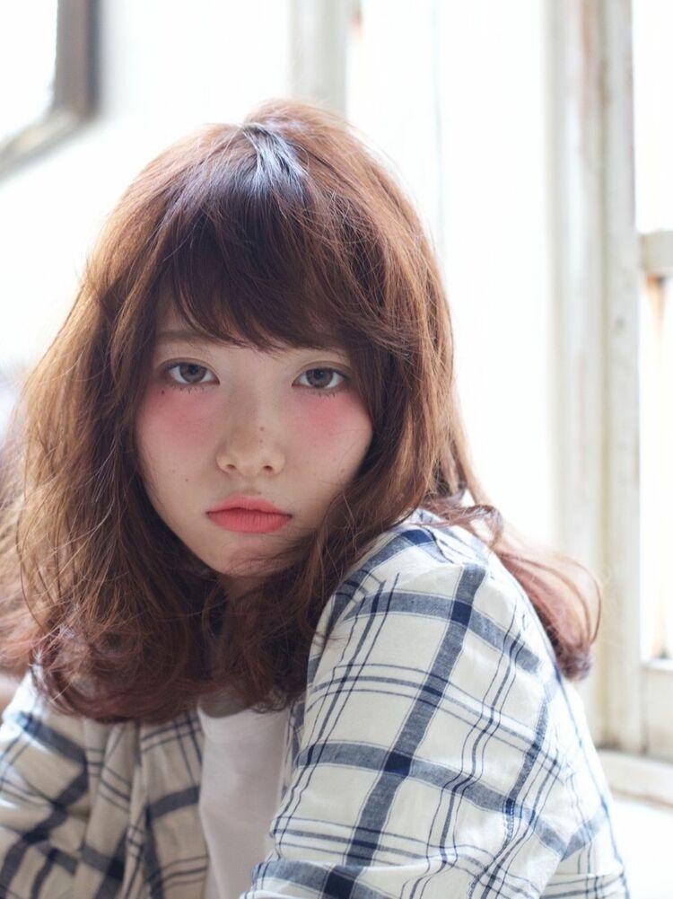 Belle吉祥寺ゆるふわミディアムパーマカット、カラー、半生パーマ 24200円