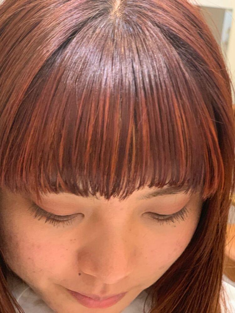 3Dハイライト × マロンレッドカット、カラー、ハイライト 17050円