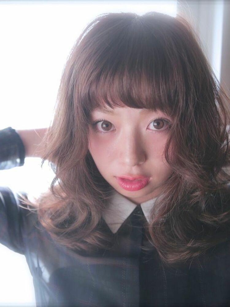 大人可愛いゆる巻きスタイルBelle吉祥寺カット、カラー、半生パーマ 24200円