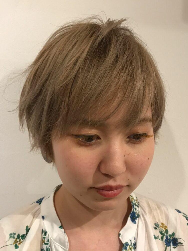 ☆お客様スタイル☆ハイトーンショート Belle吉祥寺カット、ダブルカラー 21450円