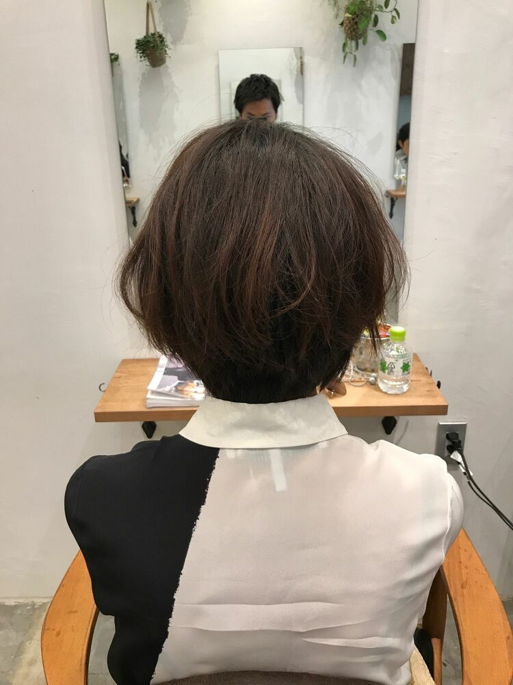 after ← beforeバッサリレイヤーショート Belle吉祥寺カット 6050円