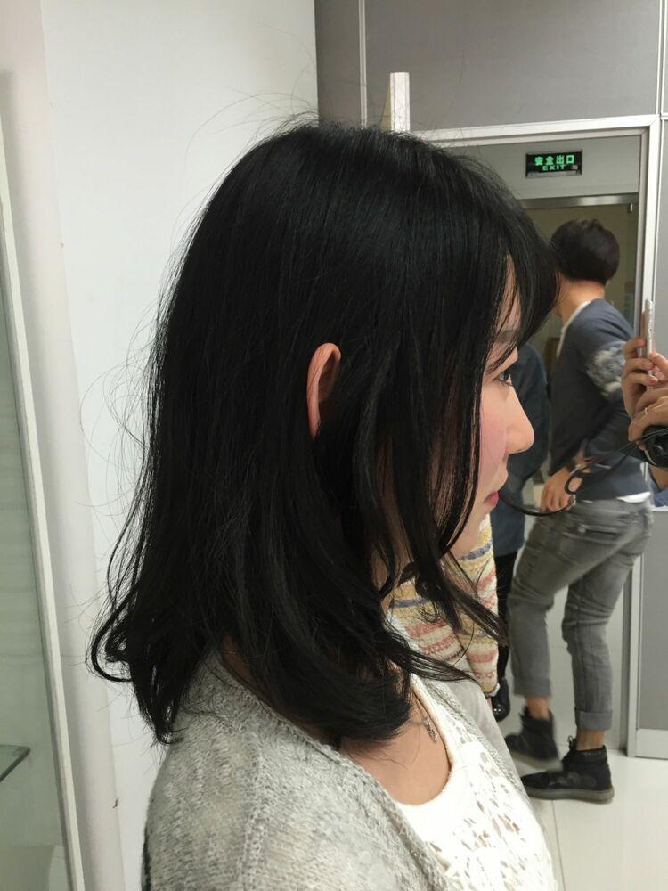 ☆お客様スタイル☆耳かけショート Belle吉祥寺カット、半生パーマ 17050円