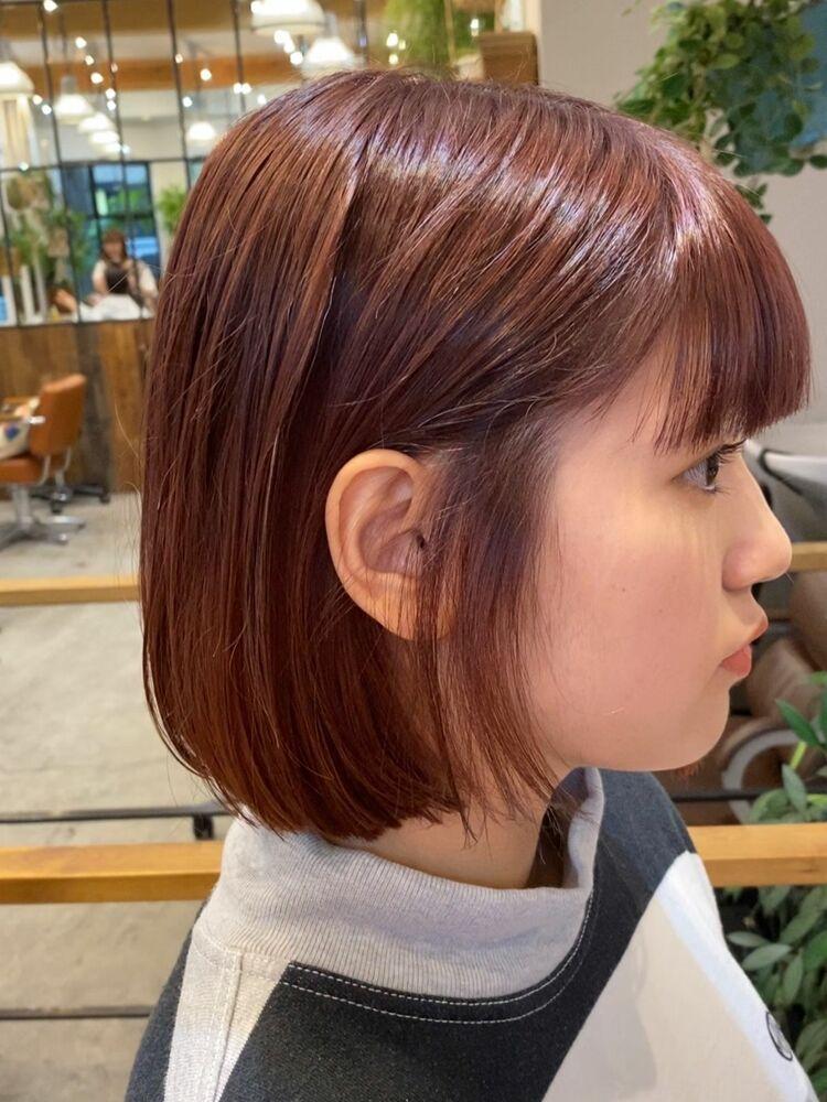耳かけボブカット、カラー 13200円