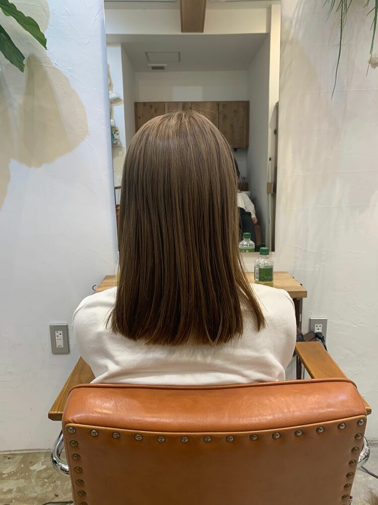 after ← before透明感抜群グレージュカット、ダブルカラー 21450円