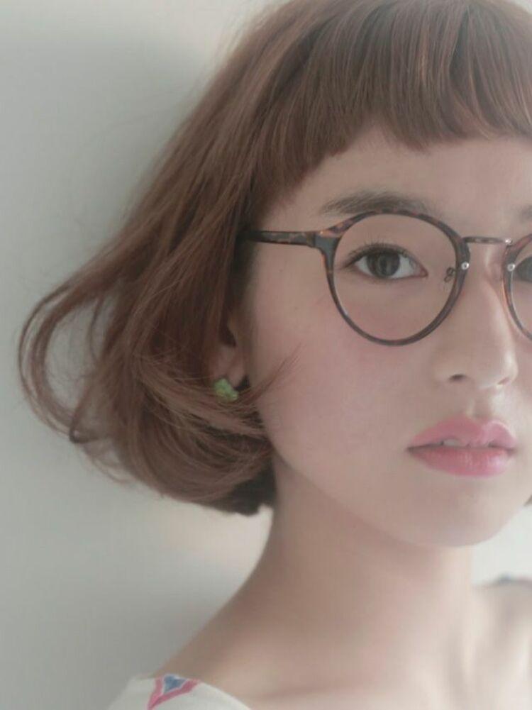 ☆お客様スタイル☆丸みボブ Belle吉祥寺カット、カラー 13200円
