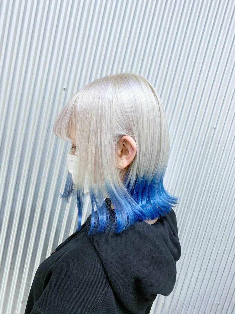 ホワイト×ブルー