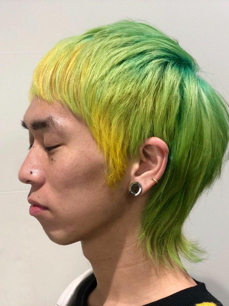 ユニークカラー☆ライムグリーン
