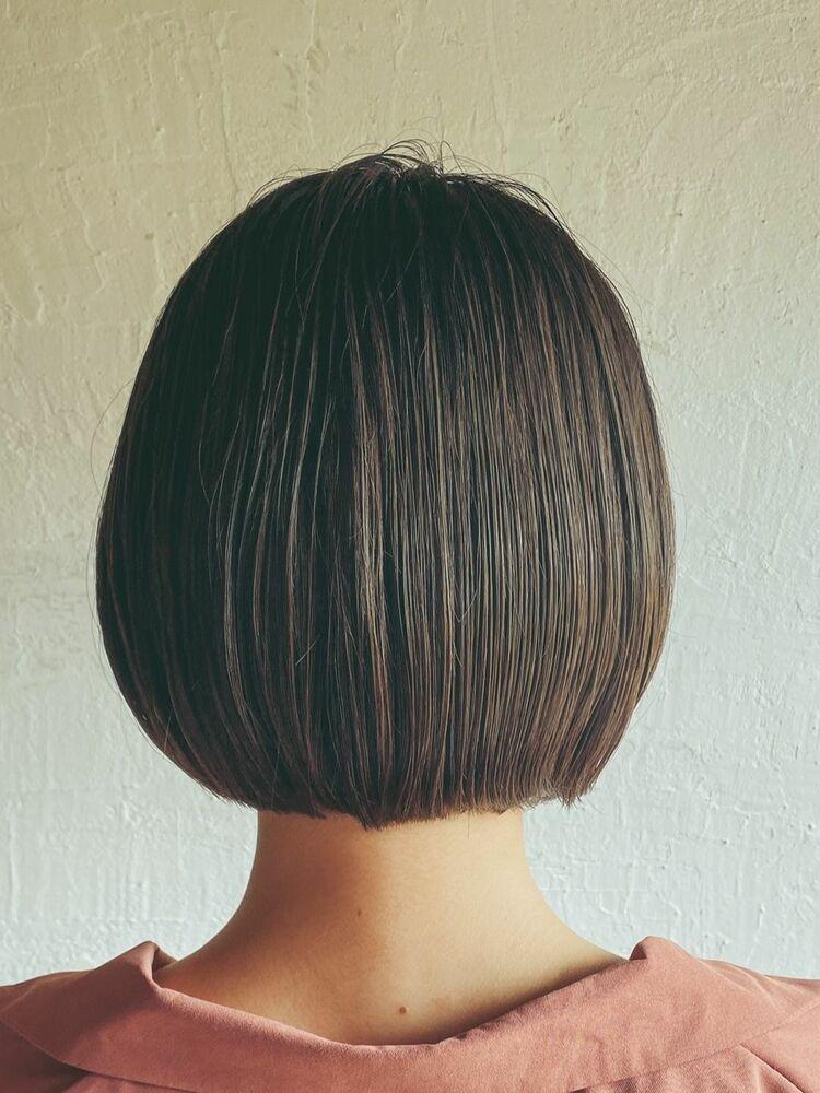 大人可愛い前下がりボブ×くすみブルー×ニュアンス涼しげヘア#横浜#鶴ヶ峰#美容室