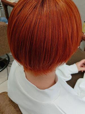ツヤ感オレンジカラー