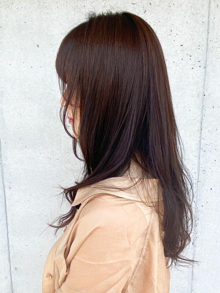 毛先パーマ低温デジタルパーマデジタルパーマ透明感カラー春トレンドスタイル