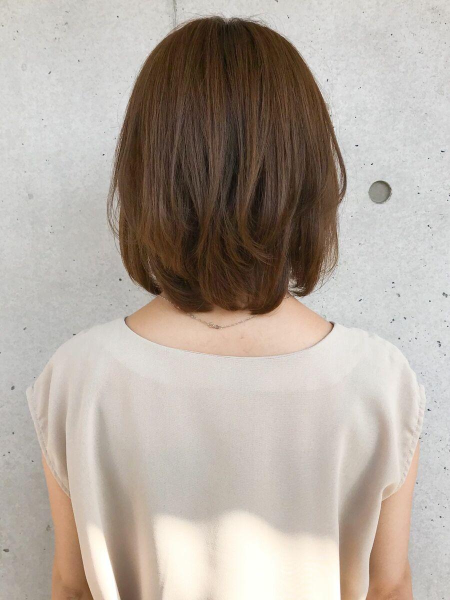 ひし形シルエット/ゆるふわボブ