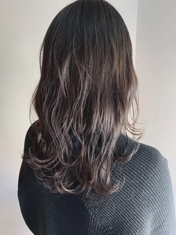 暗髪でも透明感◎ミントアッシュ//イルミナカラー+オージュアトリートメント