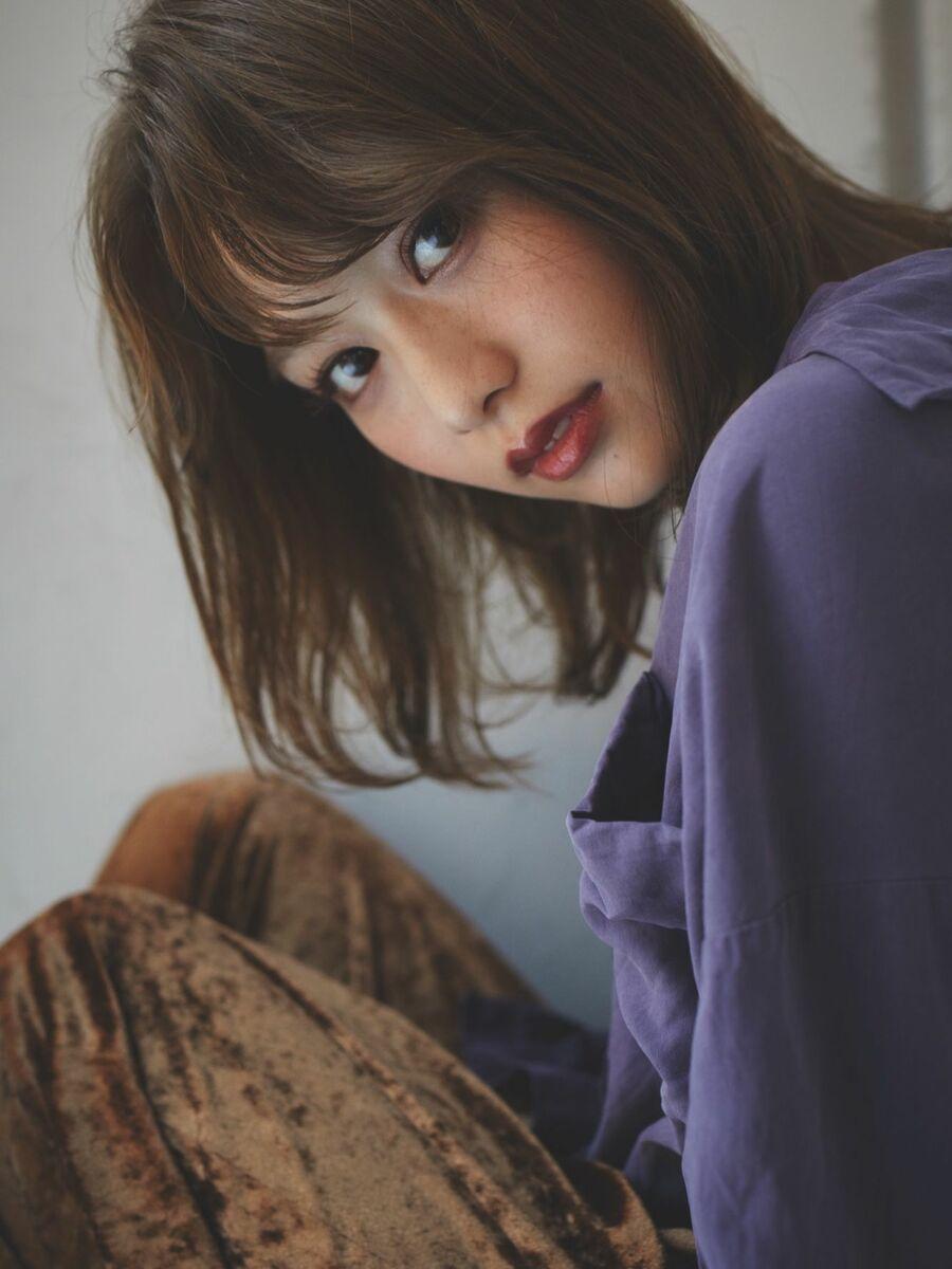 ひし形ミディアムレイヤー  ☆渋谷でカットが上手いと人気☆