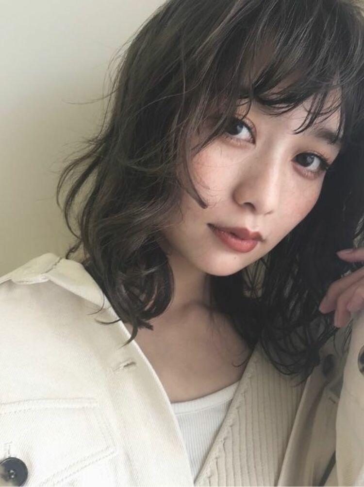透け感ミディアムレイヤー ☆渋谷でカットが上手いと人気☆