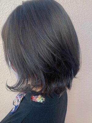 ブルーグレージュで透明感暗髪color☆☆