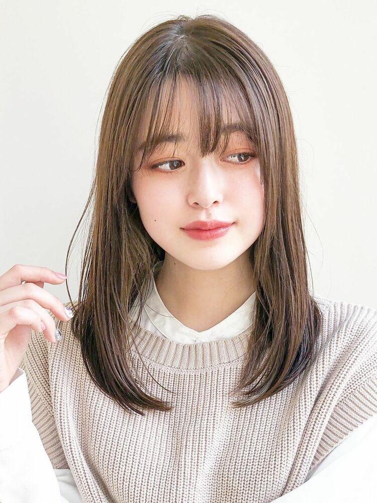 髪質改善酸熱トリートメント艶髪ミディアム