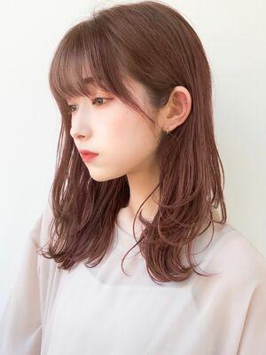 デジタルパーマ毛先カールカシスカラー