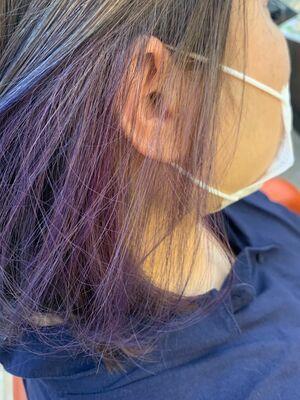 インナーカラー紫