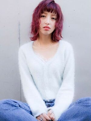 重めシルエット×ピンクパープル☆