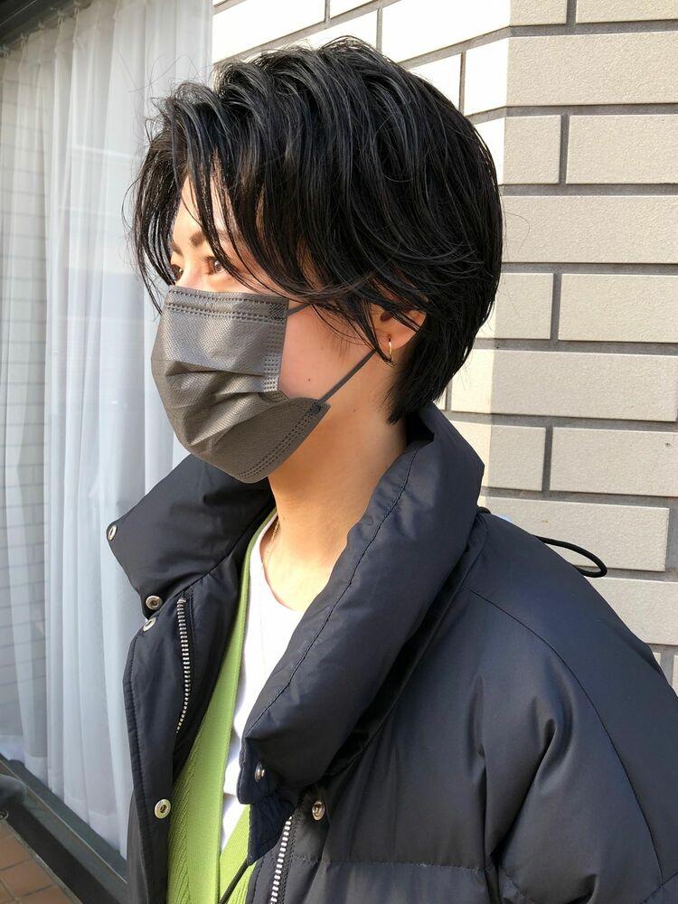 【SiSTA】パーマ風 ハンサム ショート