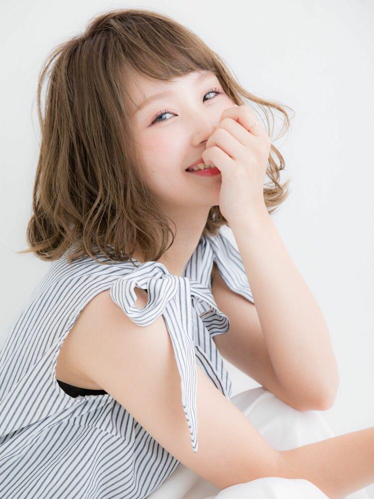 可愛い愛され小顔ミディアムボブ☆ひし形シルエット