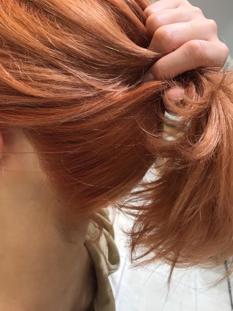 ヘアアレンジ、ポニーテール、セミロング、ロング、ヘアカラー、冬カラー、前髪有り、ワンカール(iki)