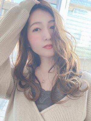 大人可愛いハイライト☆西洋風の夏カラー