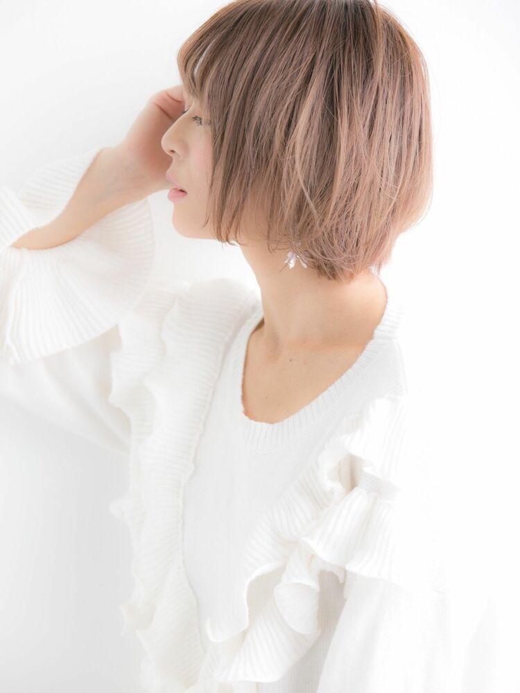 ショート×ハイトーン☆夏の王道可愛いヘアスタイル