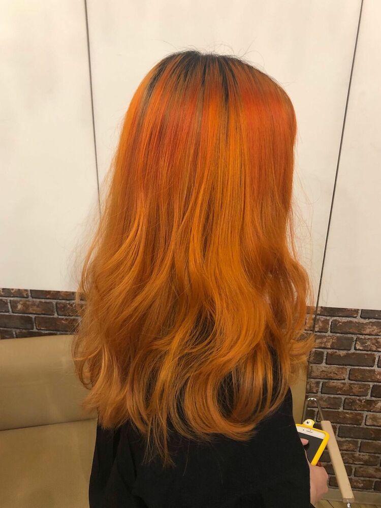 オレンジグラデーションカラー