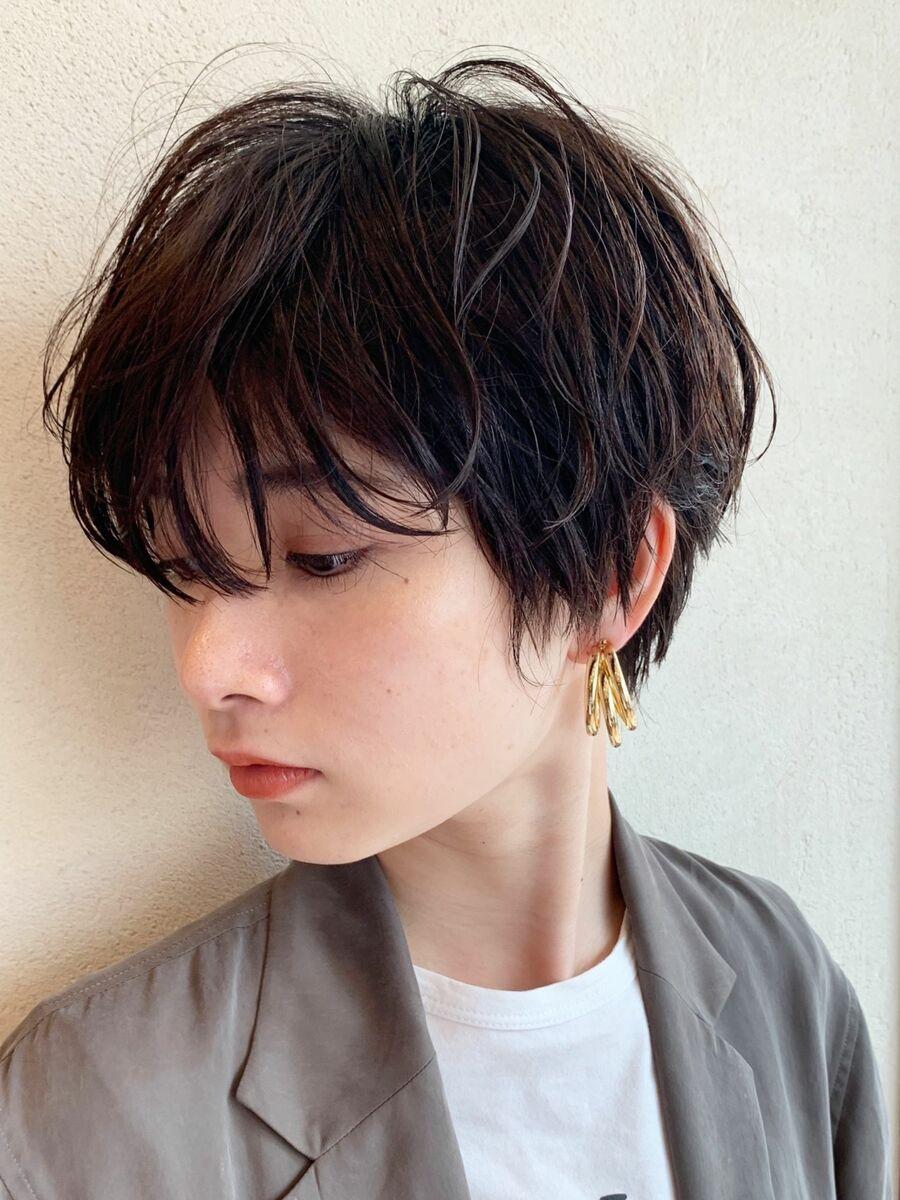 マッシュショート/毛先パーマ