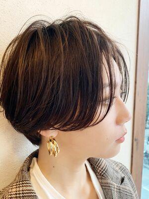 ハンサムショート/黒髪