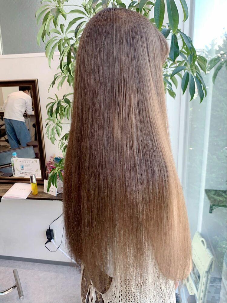 🌟髪質改善とカラーの同日施術/ミルクティーベージュ🌟