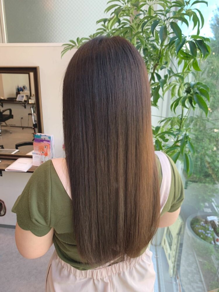 🌟髪質改善カラーでオリーブベージュ🌟