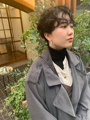 guest photo  癖毛風パーマ