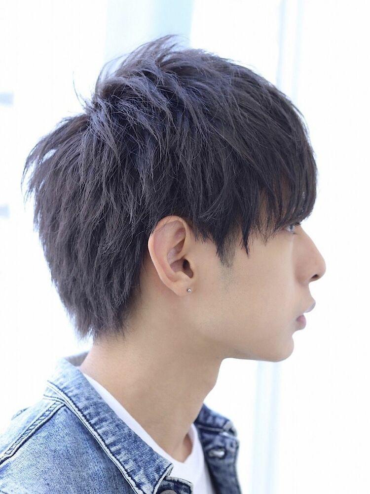 黒髪スピアショート