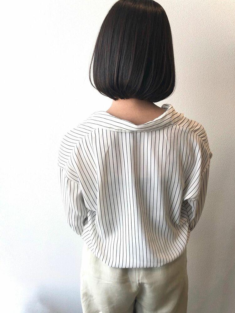 ミニボブ×黒髪