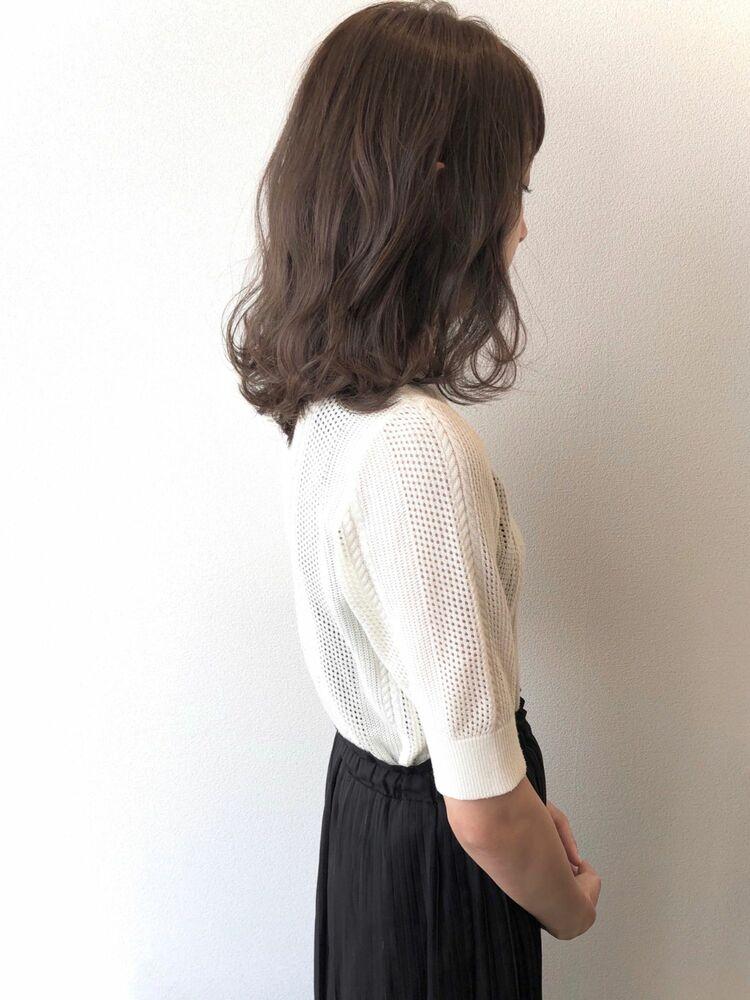 流し前髪×マットグレージュ