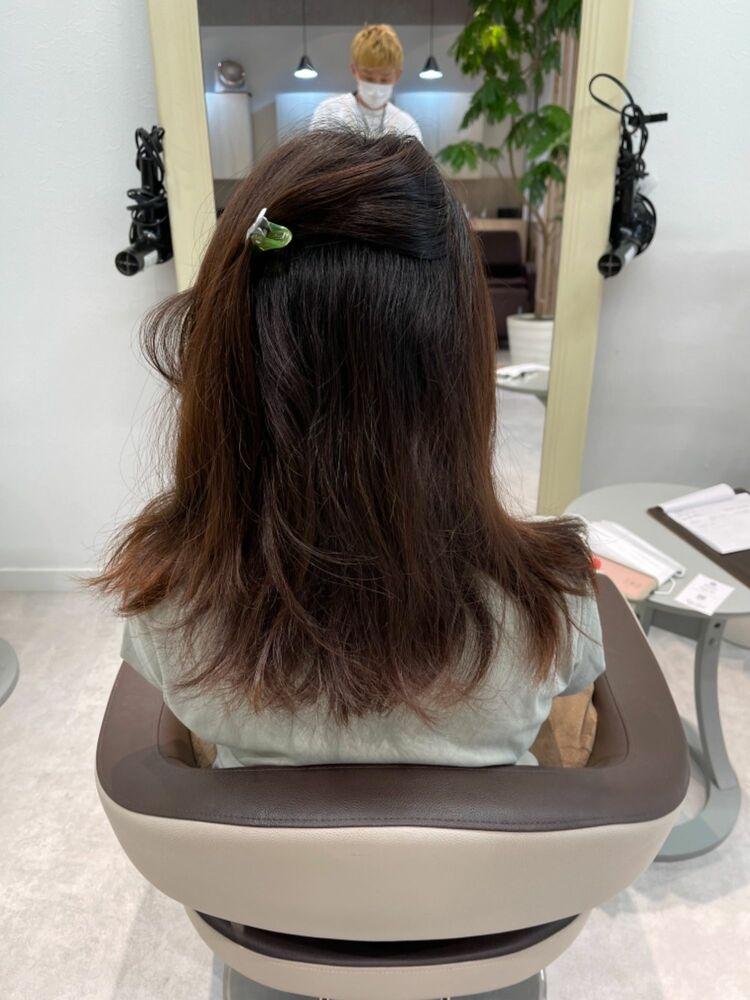 かごしま的 髪質改善ストレート 町田【セミロング 広がり うねり】