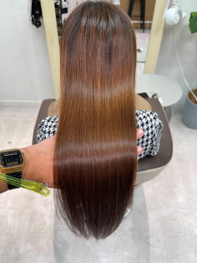 かごしま的髪質改善ストレート【ロング、ハイダメージ】