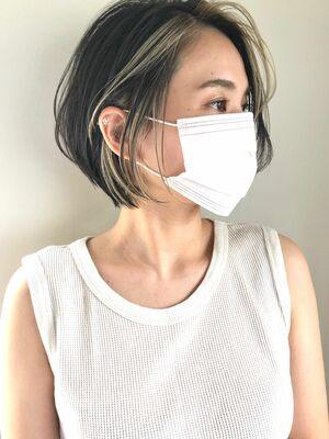 フェイスフレーミング ハイライト インナーカラー 井坂