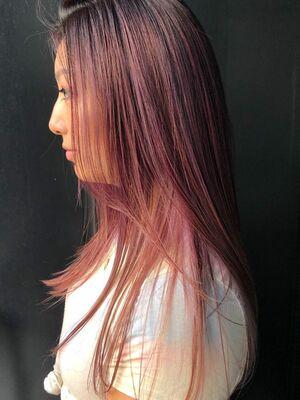 シャドールーツのピンクパープルカラーが可愛い◎