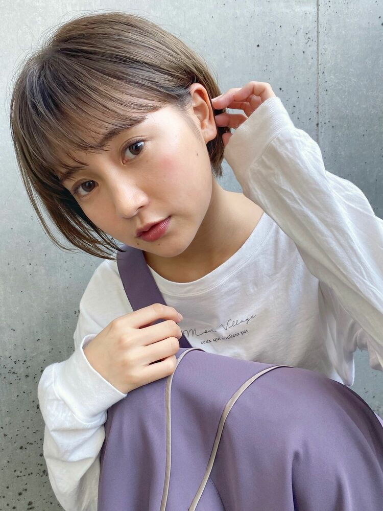(人気NO.1☆)カット+透明感カラー+トリートメント 14850円 → 7700円