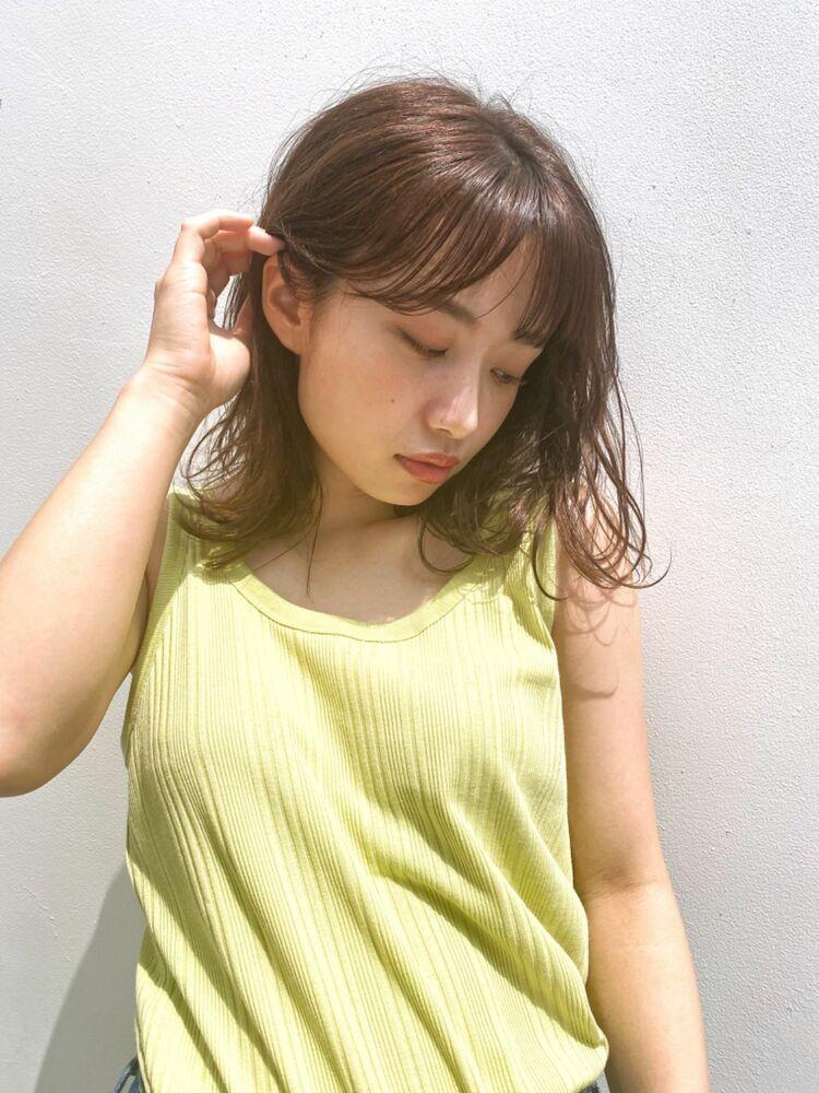 ふんわりウェーブ(人気NO.1☆)カット+透明感カラー+トリートメント 14850円 → 8800円