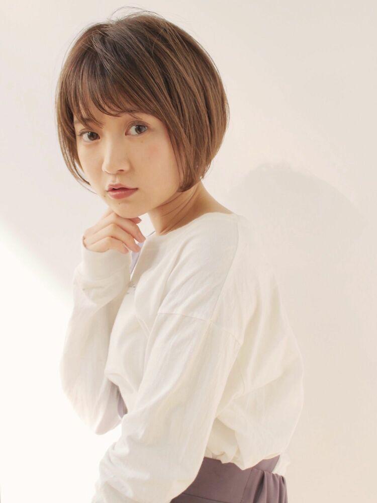 ショートボブ(人気NO.1☆)カット+透明感カラー+トリートメント 14850円 → 8800円