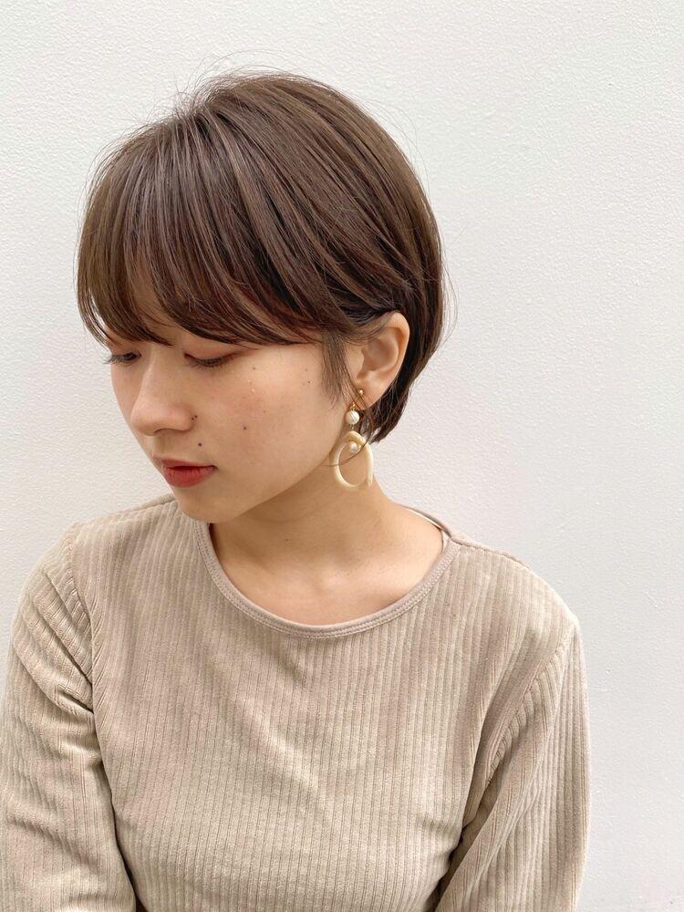 ツヤ感ショート(人気NO.1☆)カット+透明感カラー+トリートメント 14850円 → 8800円