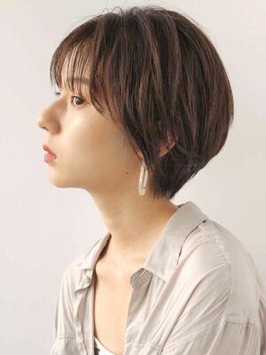 透け感ショート(人気NO.1☆)カット+透明感カラー+トリートメント 14850円 → 8800円