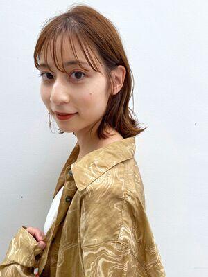 シースルロブ(人気NO.1☆)カット+透明感カラー+トリートメント 14850円 → 8800円