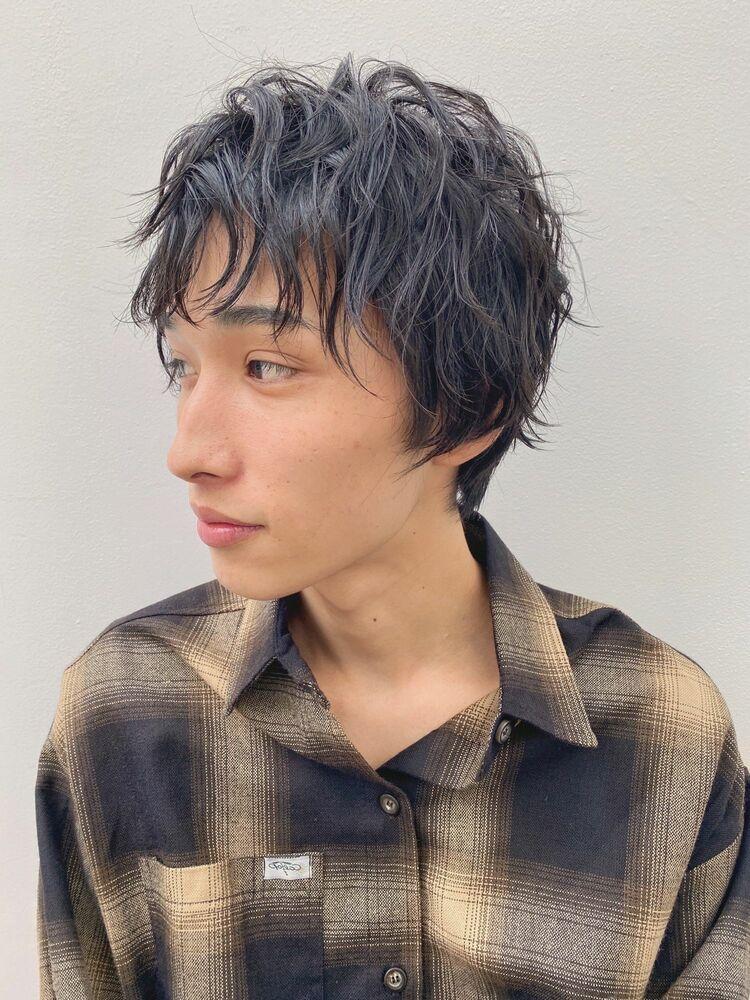 マッシュショート(人気NO.1)メンズカット+似合わせパーマ 10450円 → 8800円