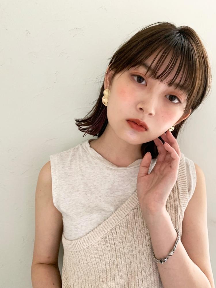 joemi by unami/新宿駅直結 土井陸小顔切りっぱなしボブ