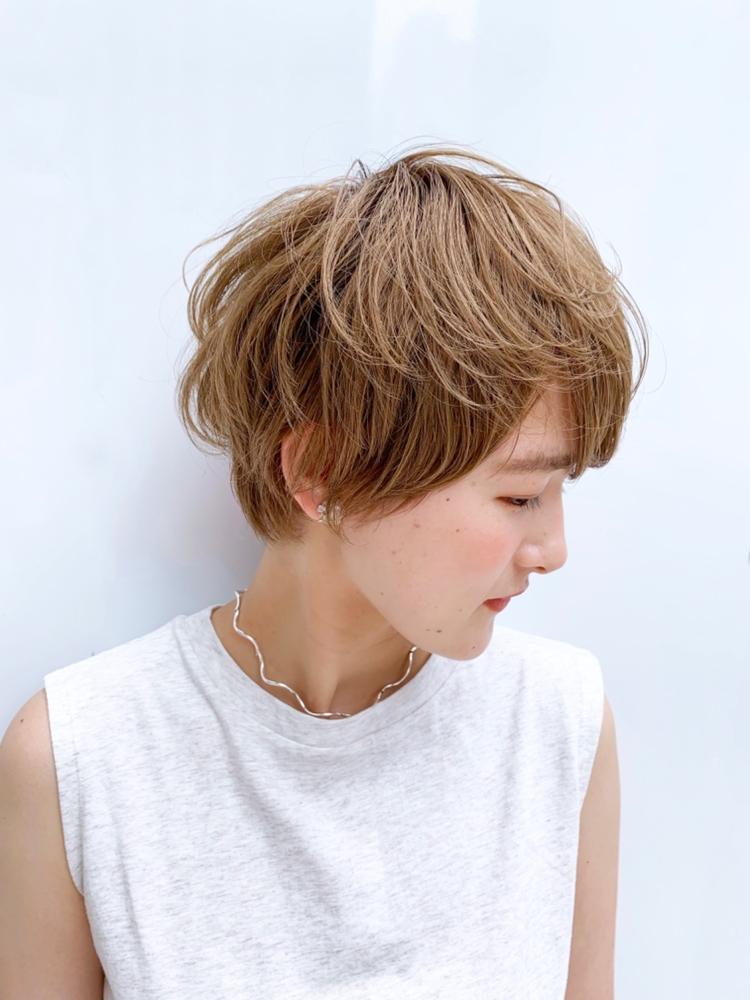 joemi by unami/新宿駅直結 土井陸ハイトーンショートパーマ